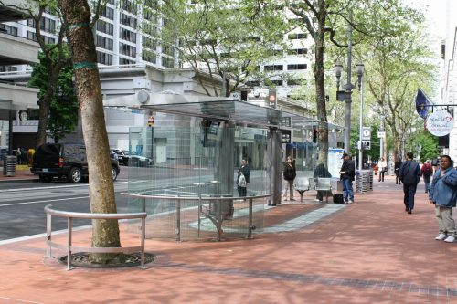 Transit shelter, Portland OR