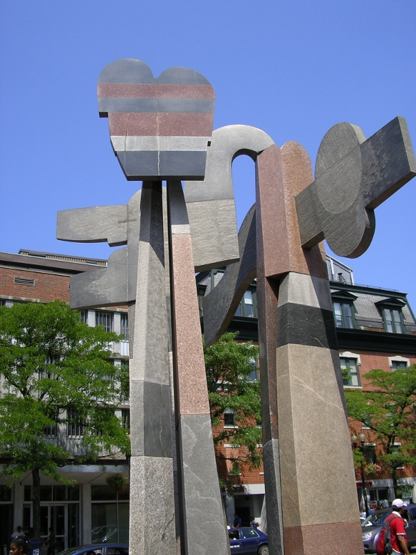 6 - Cambridge granite sculpture